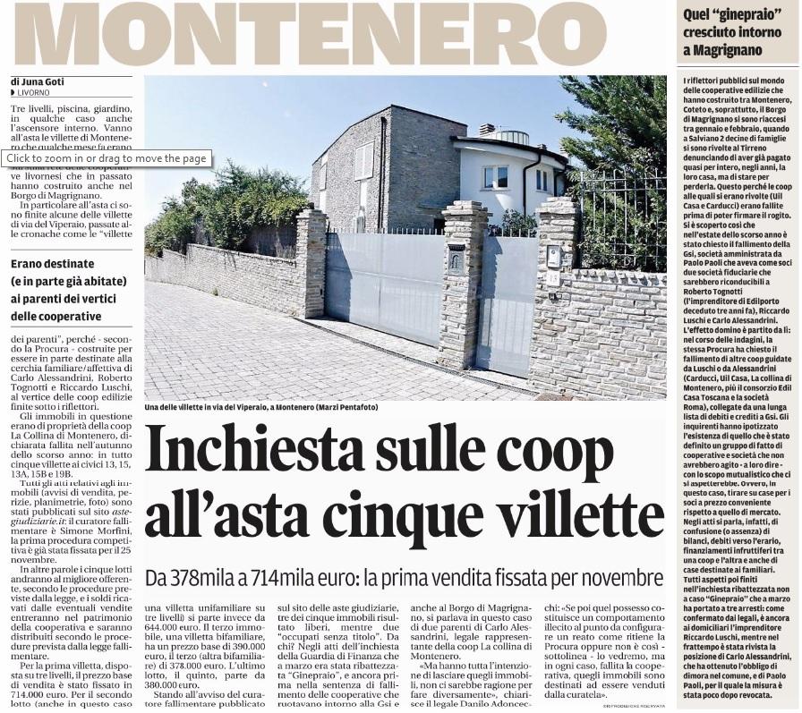 Ville asta Montenero